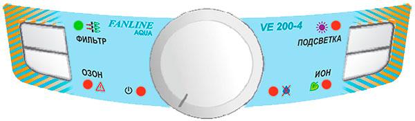 Панель управления прибором